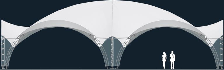 Модель ArcoTenso Grand 500м2
