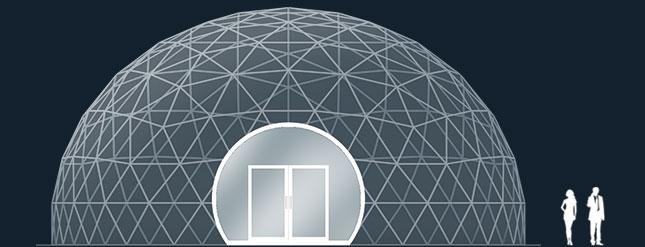 Модель GeoTenso GeoDome 253м2