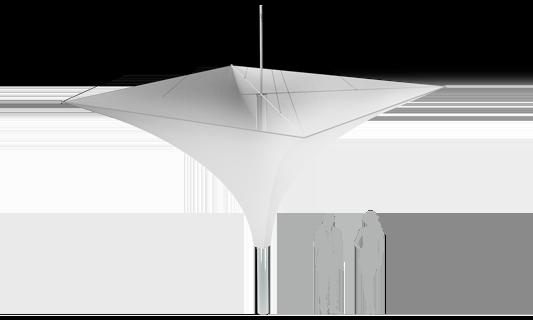 Модель Membrane Umbrella 16м2