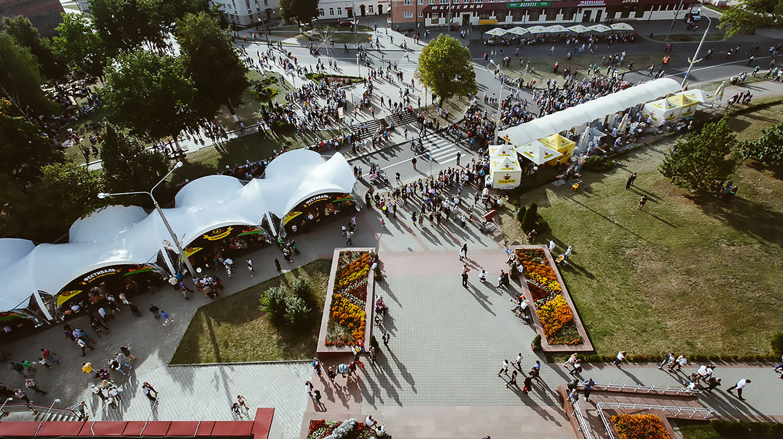 Тентовые конструкции для организации фестивалей