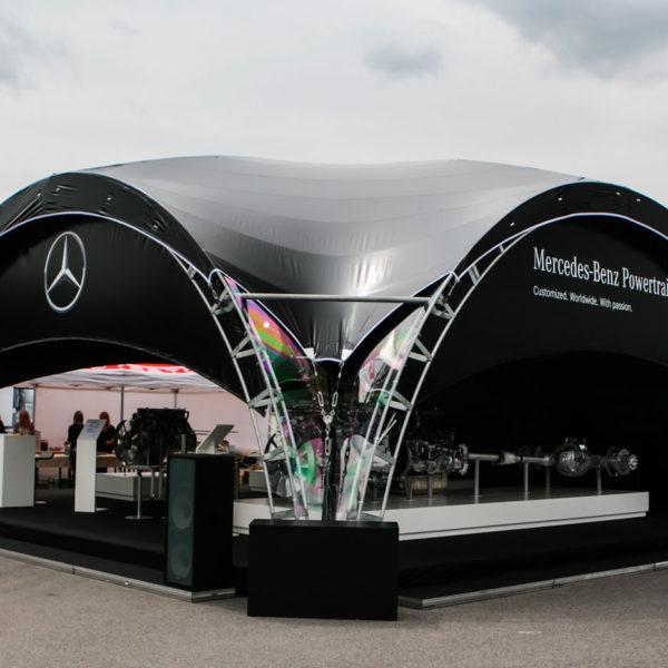 Тематический шатер для Mercedes-Benz